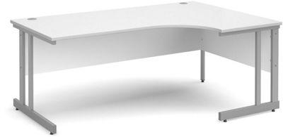 DSK Momento 1800mm Right Hand Ergonomic Desk - White