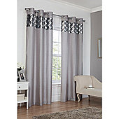 Hamilton McBride Astoria Eyelet Lined Curtains - Silver