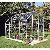 Halls 6x8 Supreme Curved Greenhouse + Base-frame - Horticultural Glass