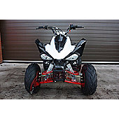 Quad Bike - 200cc Quad - White/Red - Hawkmoto Intruder