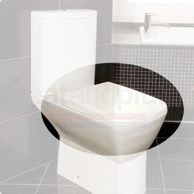 RAK Summit Wrap Over Plastic Toilet Seat with Soft Close Hinge