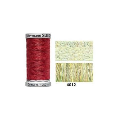 Gutermann Sulky Variegated Cotton 300m Baby Soft