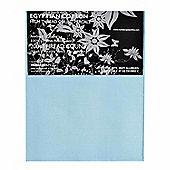 Homescapes 100% Egyptian Cotton Flat Sheet Plain 200 Thread Count - Blue