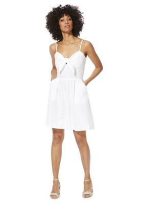 F&F Knot Front Summer Dress White 22