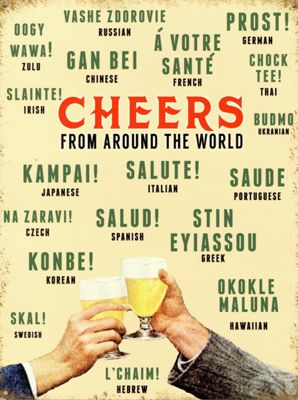 Cheers From Around The World Tin Sign