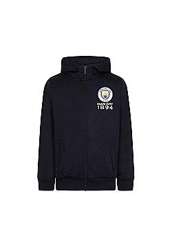 Manchester City FC Boys Zip Hoody - Blue