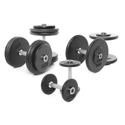 Body Power Pro-style Dumbbells Weight Set A: 2.5-25kg (10 Pairs)