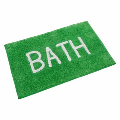 Homescapes BATH Phrase Fern Green Bath Mat