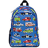 Children's Action Vehicles Backpack with Side Pocket