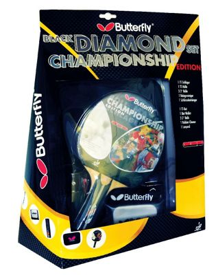 Championship Black Diamond Table Tennis Set