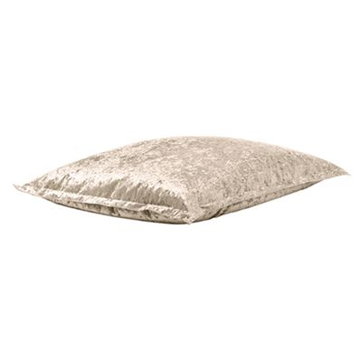Ambre Crushed Velvet Indoor Beanbag Slab in Mink