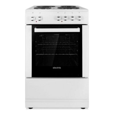 ElectriQ 50cm Electric Single Cooker With Solid Hotplate - White