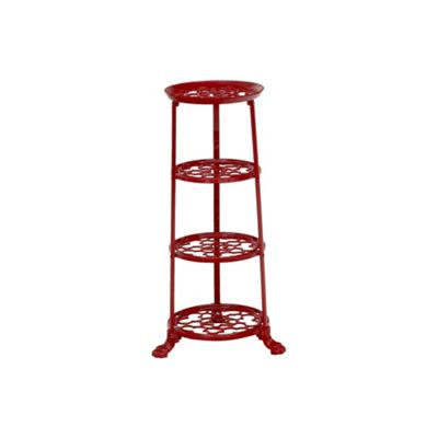 4 Tier Pan Stand, Chilli Red