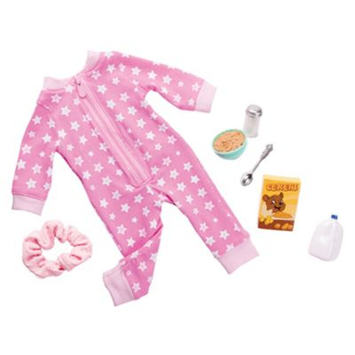 Our Generation Dolls Outfit Onesies Funzies Pink With Stars