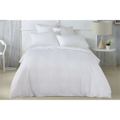 Sheridan Abington White Tailored Quilt Cover Set - Single