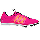 adidas Allroundstar Girls Running Spike Trainer Shoe Pink - UK 2