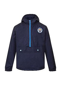 Manchester City FC Boys Shower Jacket - Navy & Multi