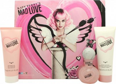 Katy Perry Mad Love Gift Set 30ml EDP + 75ml Body Lotion + 75ml Shower Gel For Women