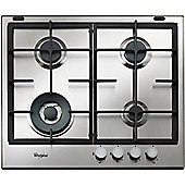 Whirlpool GMA6422IX 600mm Gas Hob with WOK burner, Stainless Steel
