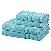 100% Cotton 2 Hand 2 Bath Towel Bale -Aqua