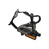 VP Resin Road Bike Pedal With Toe Clip And Straps