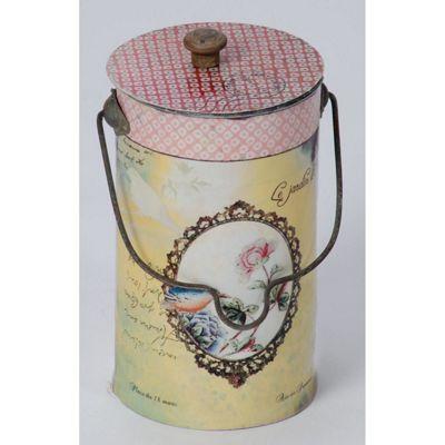 Bird Cameo Lidded Tin