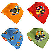 JCB Bandana Dribble Bibs Boxed (4 Pack Gift Set) Joey JCB and Friends Colourful Set …