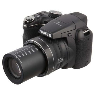 Fuji FinePix S4900 Digital Bridge Camera, Black, 14MP, 30x Optical Zoom, 3