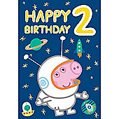Peppa Pig George Pig Second Birthday Card