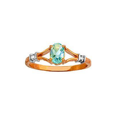 QP Jewellers Diamond & Blue Topaz Aspire Ring in 14K Rose Gold - Size Q 1/2