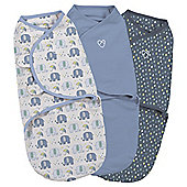 Summer Infant 3 Pack  Swaddle, Elephant