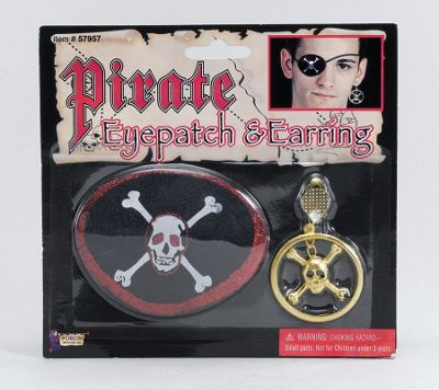Pirate Eyepatch+Large EarRing