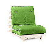 Complete Single Futon Sofabed With Wooden Base And Cotton Mattress