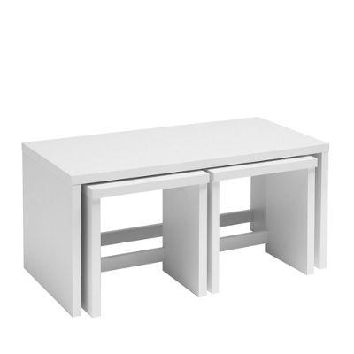 Caxton Manhattan Long John Table in White Gloss
