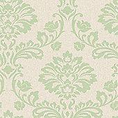 Superfresco Aurora Shimmer Damask Green Wallpaper