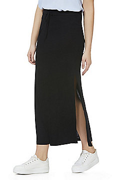 Vila Jersey Maxi Skirt - Black