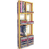 Double Wall Cd / Dvd / Blu Ray Storage Shelf - Natural