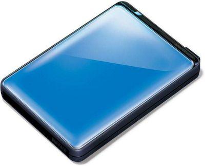 Buffalo MiniStation Plus HD-PNTU3 (500GB) USB 3.0 Shock Proof Portable Hard Drive (Blue)