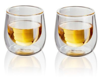 Judge Borosilicate Glass Double Walled Heat Resistant Shot Glass Glasses Set of 2 75ml