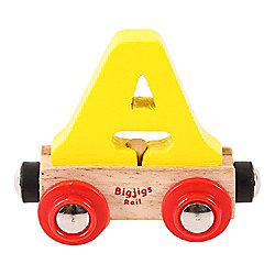 Bigjigs Rail Rail Name Letter A (Yellow)