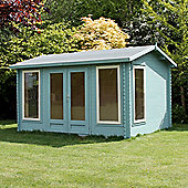 Double Glazed Home Office Director Wooden Log Cabin, 34mm, 13x10ft