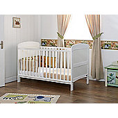 Obaby Grace Cot Bed and Sprung Mattress - White