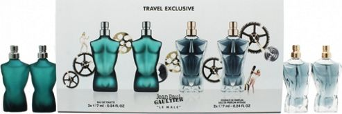 Jean Paul Gaultier Le Male Gift Set 2 x 7ml EDT + 2 x 7ml Essence de Parfum For Men