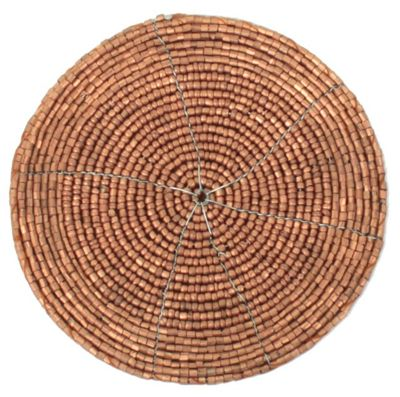 Stylish Copper Beaded Round Coaster Dining Table Decor