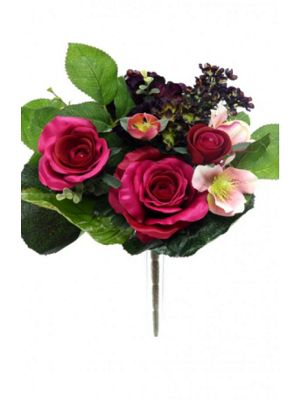 Artificial - Flower Selection Bunch - Wine