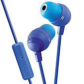 JVC Marshmallow In Ear Headphones with Remote and Microphone - Blue