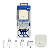 FX Factory Powabud 3-in-1 USB Mains Charger
