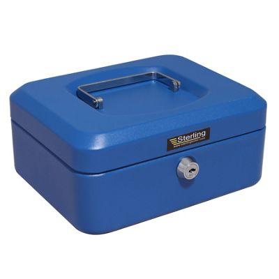 Sterling Blue Metal Cash box - Medium