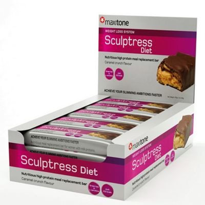 Sculptress Diet Bar 12x60g Caramel Crunch