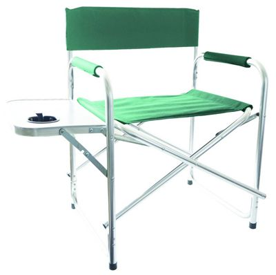 Redwood Leisure Green Directors Chair with Side Table